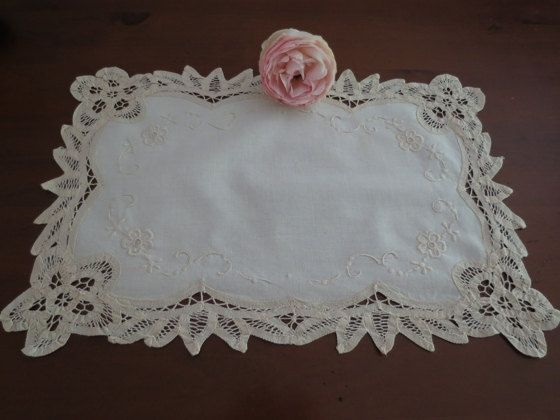 Battenberg Lace Doiley by LouisaAmeliaJane on Etsy, $4.00