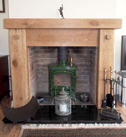 Chunky Top Oak Fireplace Surround