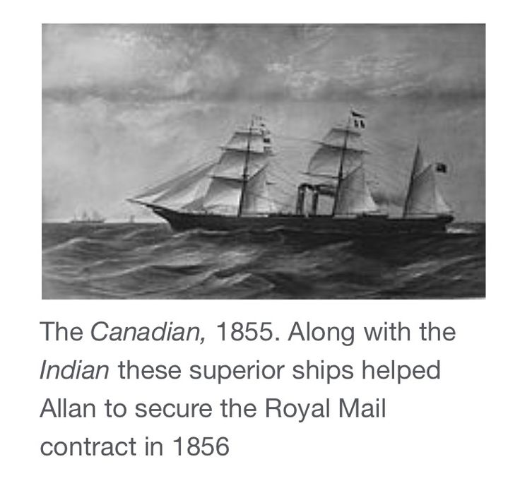 Hugh Allan, my sons' third great-grandfather's shipping line won the business to transport the Royal Mail.