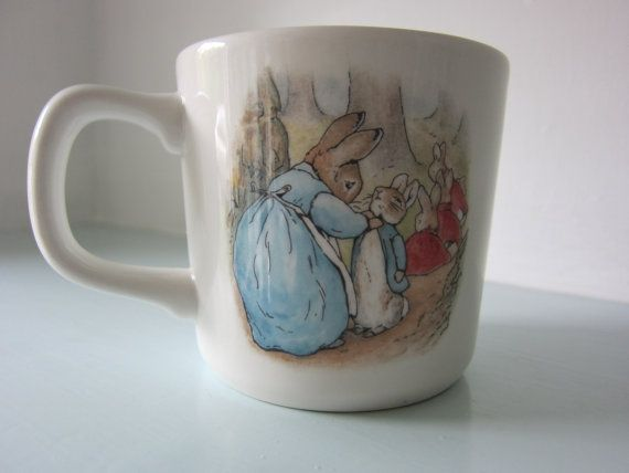 Peter rabbit Beatrix potter cup by Wedgwood by thevintagemagpie01