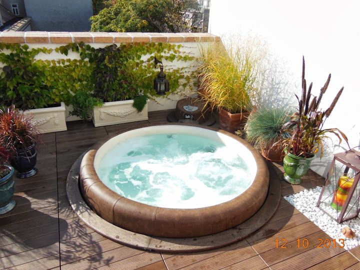 Whirlpool outdoor eingelassen  Whirlpool Garten. Great Echter Outdoor Whirlpool With Whirlpool ...