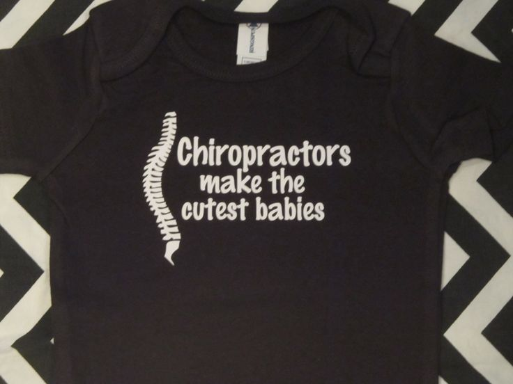 Chiropractors make the cutest babies spine / back / doctor funny one piece bodysuit for baby boy or girl - you choose size by Ilove2sparkle on Etsy https://www.etsy.com/listing/217055092/chiropractors-make-the-cutest-babies