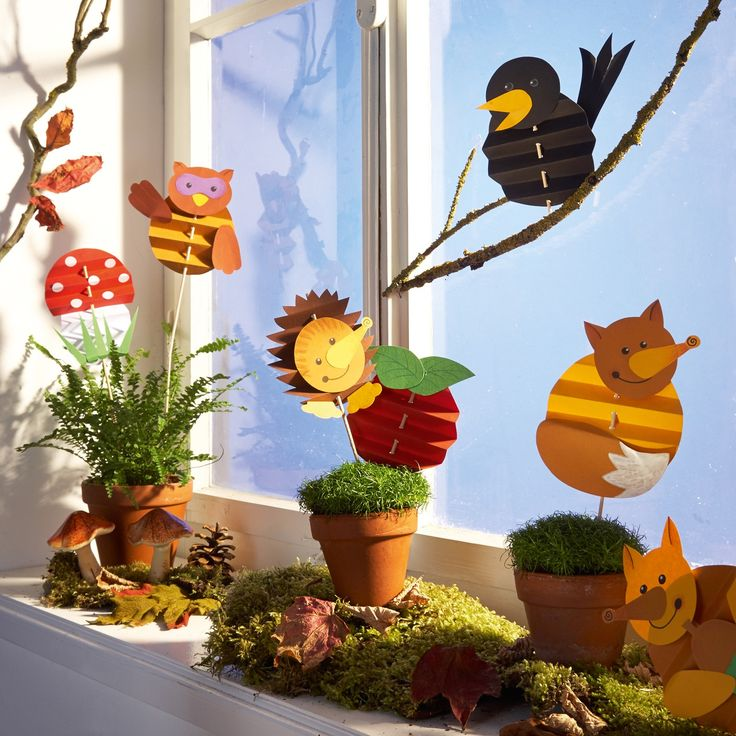 Faltfiguren Herbst, Bastelset für 8 Stück