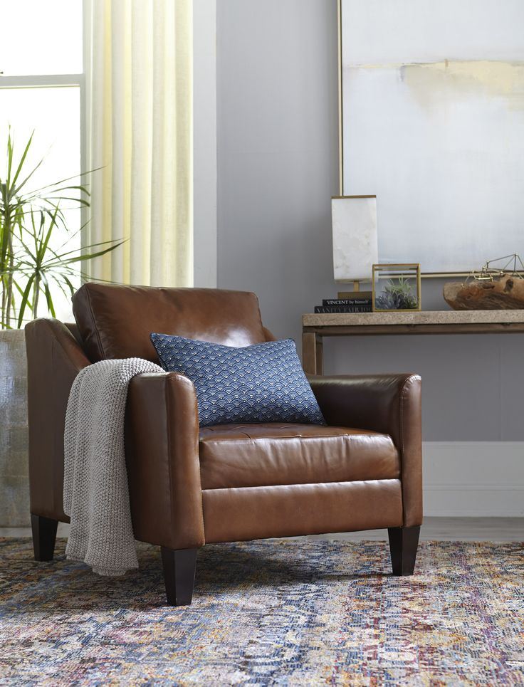 Sit Pretty In The Havertys Parker Chair Atop The Gianni Rug. Toss In A Throw