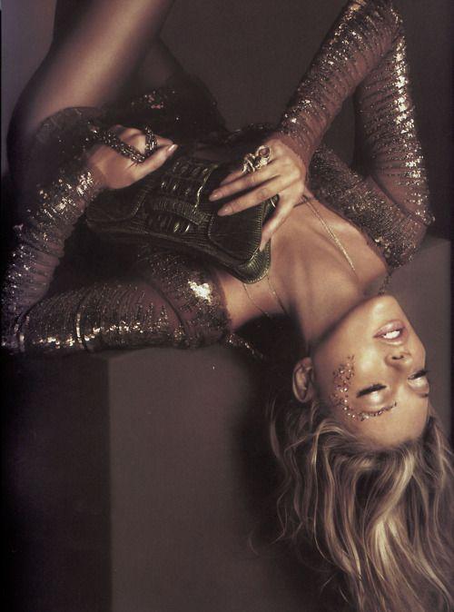 : Glamour, Style, Alas Marcus Piggott, Chocolate Brown, Dress, Fashion Photography, Roberto Cavalli, Glitter, Kate Moss