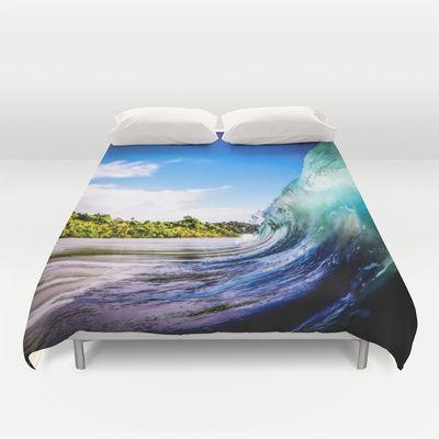 Wave Wall Duvet Cover #wave #surf #sea #beach #summer #duvet