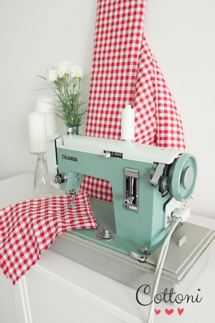 Mint retro sewing machine