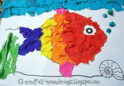 Simple paper collage ideas for kids crafts