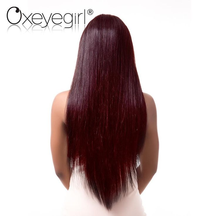 Oxeye girl Burgundy Brazilian Hair Weave Bundles 99j Red Straight Human Hair Bundles Non Remy Hair Extensions Can Buy 3/4 Pieces