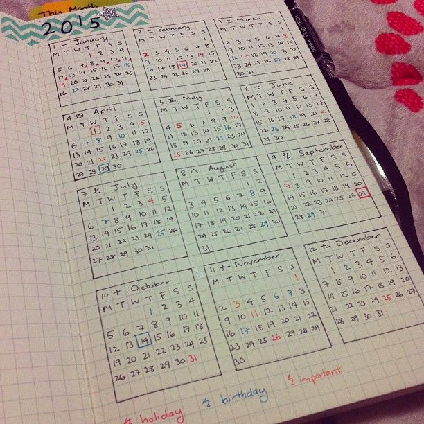 Yearly Calendar Bullet Journal : Everyone thinks i m crazy whatever made my own planner