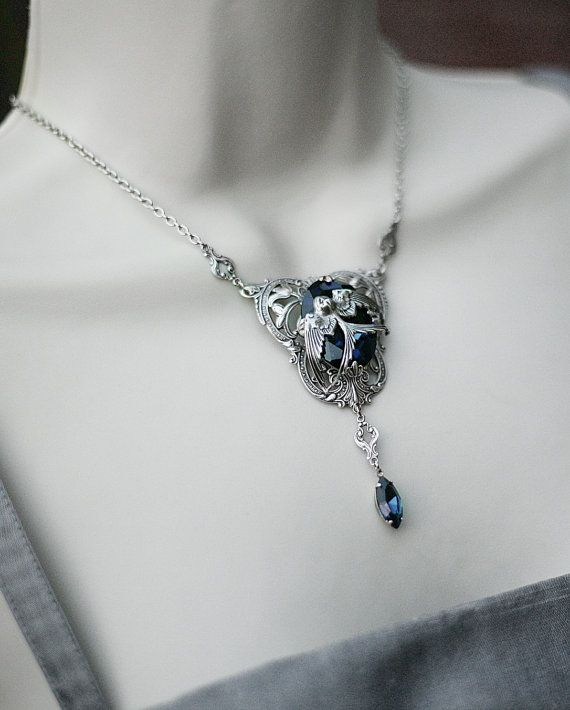 Rowena Ravenclaw's Diadem Inspired Necklace - Could be my Something Blue! <3