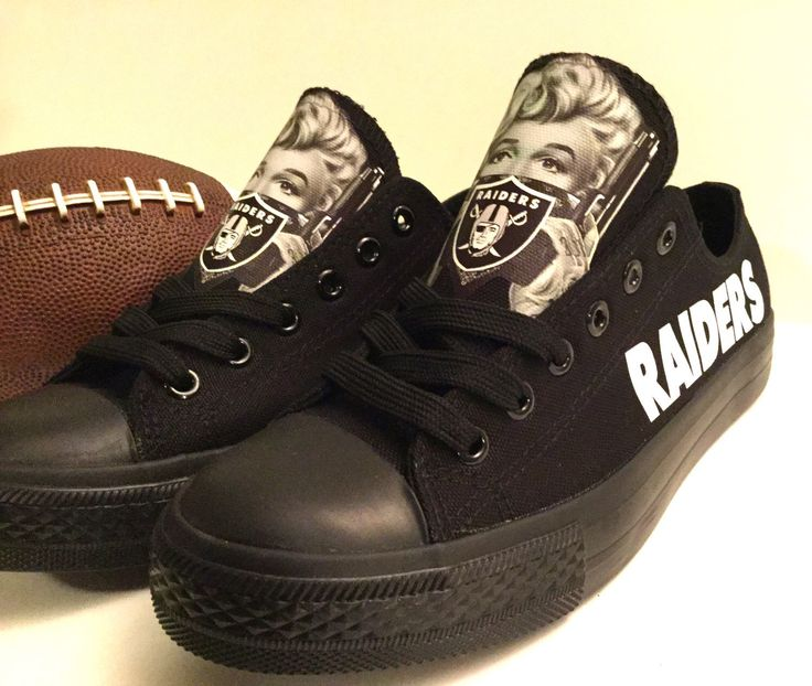 Oakland Raiders Marilyn Monroe Athletic Shoes by Sportzunlimited on Etsy https://www.etsy.com/listing/248945139/oakland-raiders-marilyn-monroe-athletic