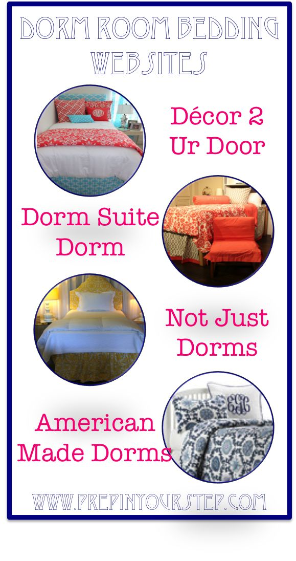 Prep In Your Step: Custom Dorm Room Bedding Wedbsites