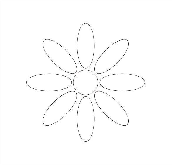 Flower Petal Template Flower Petal Template   Free Word Pdf