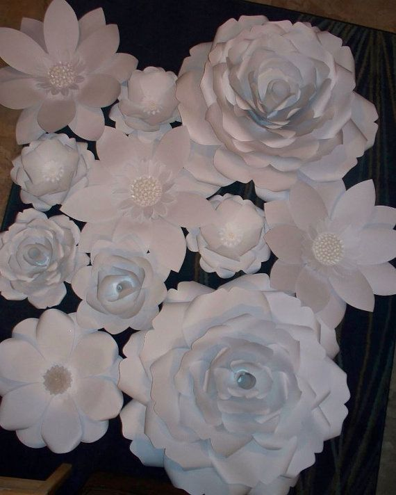 large paper flowers wedding backdrop white paper flowers