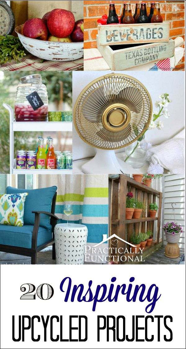 Whether you are simply adding beauty to something outdated, or finding a new function for thrifted items, these upcycled projects are sure to inspire you!