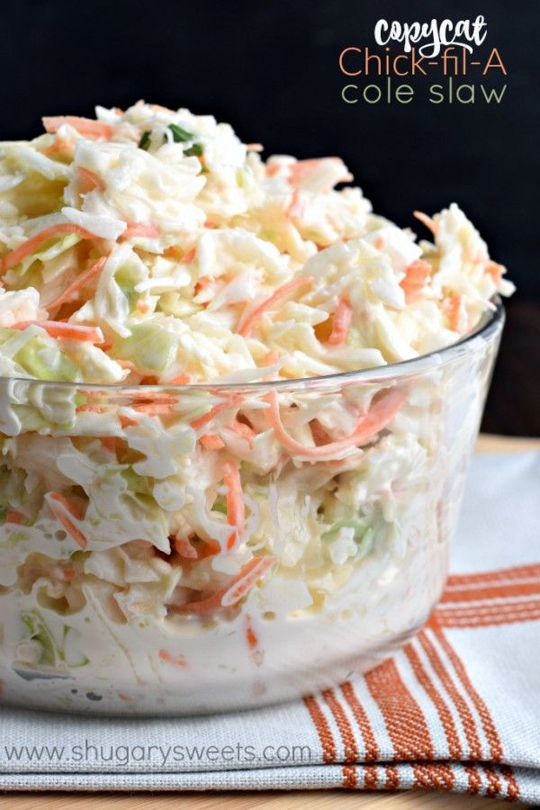 Chick-fil-A Cole Slaw - Shugary Sweets