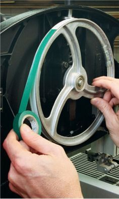 How to Use Masking and Electrical Tape to Quick Fix Your Bandsaw Wheel and Tire