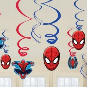 Ultimate Spiderman Swirl Party Decorations