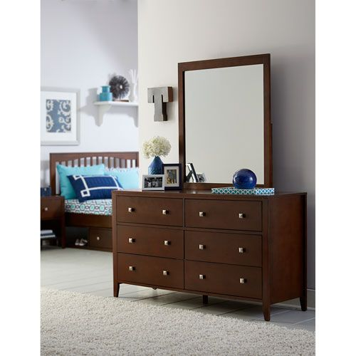 Pulse Cherry Dresser with Mirror