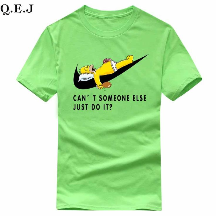 Simpson Can't Some Else Just Do It Print Brand T-Shirts Unisex Cotton Casual Shirt