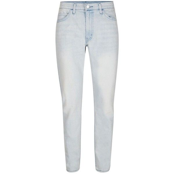 TOPMAN LEVI'S Line 8 Light Blue Slim Tapered Jeans (€77) ❤ liked on Polyvore featuring men's fashion, men's clothing, men's jeans, blue, mens slim fit jeans, mens tapered jeans, mens slim jeans, mens slim tapered jeans and mens slim fit tapered jeans