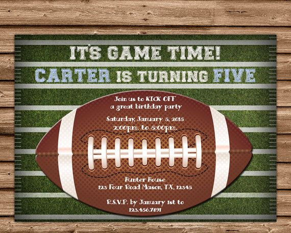 Get the cool Football birthday Invitations you've been looking for, for your sport fans football Birthday party, featuring Your party