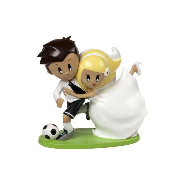 Cake topper matrimonio | Sposi tifosi di calcio | Wonderful Shop