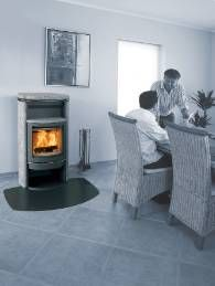 Warmth in a classic design, the 6 kW Scan 40 is available with or without soap stone sides and top plate.