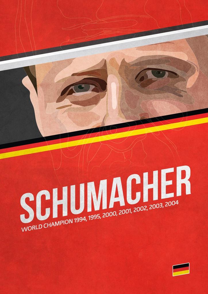 'Schumacher' poster from the Grand Prix Champions series. #F1 #Schumacher