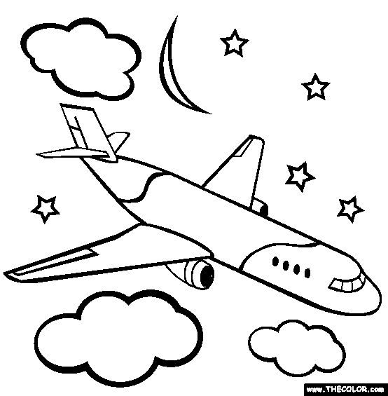 coloring pages of airplanes for kids planes coloring page free planes online coloring - Free Online Coloring Pages