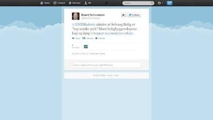 Toppsjef selger egen aksje på Twitter - modig og uvanlig.