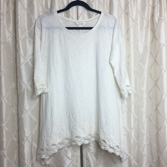 Sun & Shadow White Lace Top Great Condition | No Trades Sun & Shadow Tops