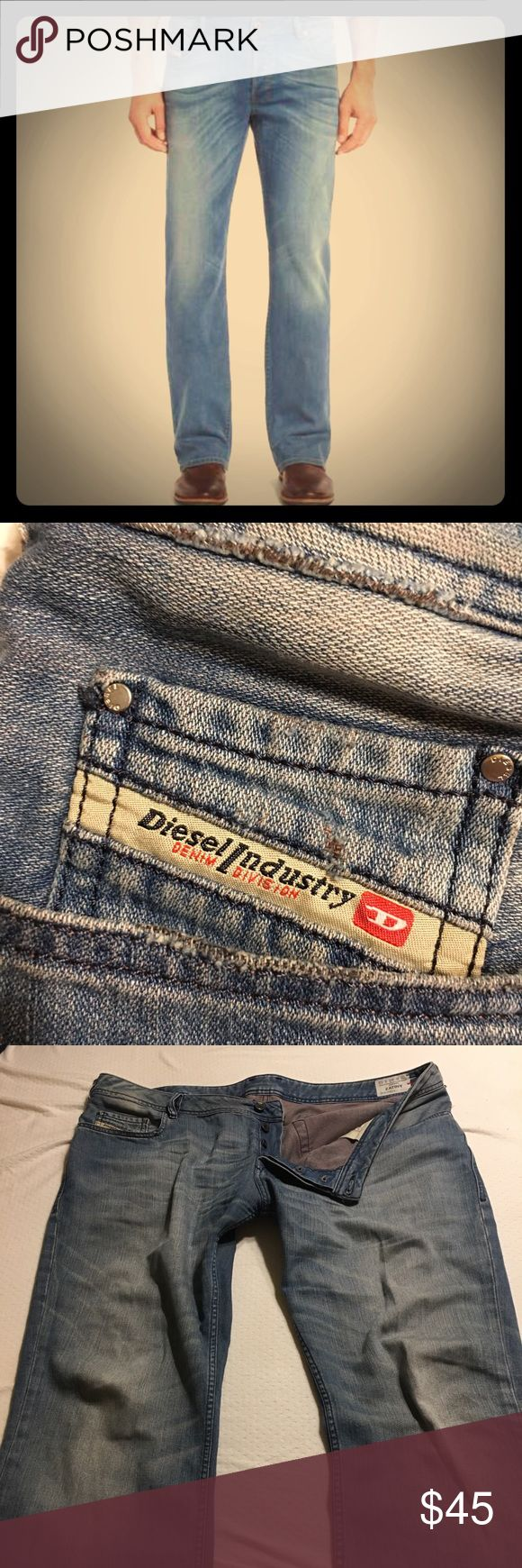 Men's Diesel ZATINY Button-Fly Jeans $239 Retail Men's Diesel ZATINY Mid Rise Jeans! 40x32 Button-Fly Medium Wash Made In Italy $239 at Nordstrom. Gently used.  SIZE INFO  Mid rise. True to size. Comfortable through the seat and thigh. Widens from the calf to ankle.  DETAILS & CARE  DIESEL's modern bootcut jeans are slim in the thighs with a natural flare that sits nicely over boots. Italian-made soft-stretch denim style is prominently sanded and whiskered for a natural, well-worn look that…