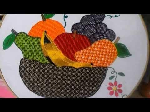 puntada fantasia canasta de frutas - YouTube