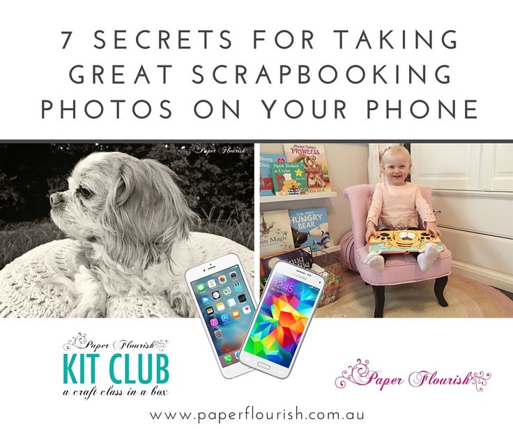 great scrapbooking photos on your phone