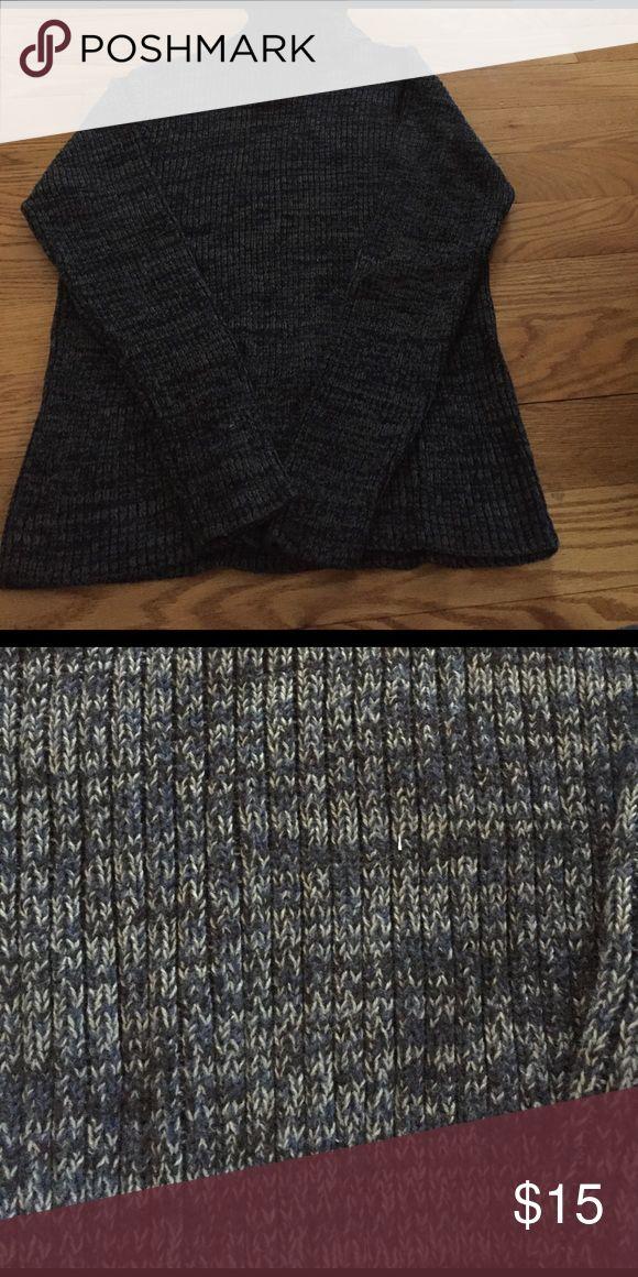 Men's turtleneck sweater Blue heathered title neck sweater. 100% cotton Sweaters Turtleneck