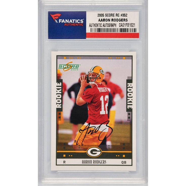 Aaron Rodgers Green Bay Packers Fanatics Authentic Autographed 2005 Score Rookie #352 Card