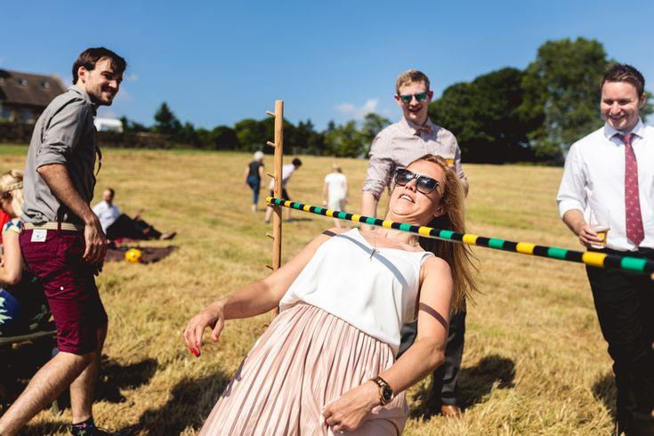 Fun Wedding Games Limbo | Kate Jackson Photography