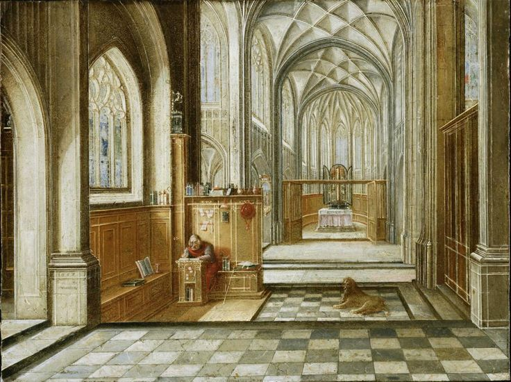 Hendrick van Steenwyck the Younger - St. Jerome in a Gothic Church