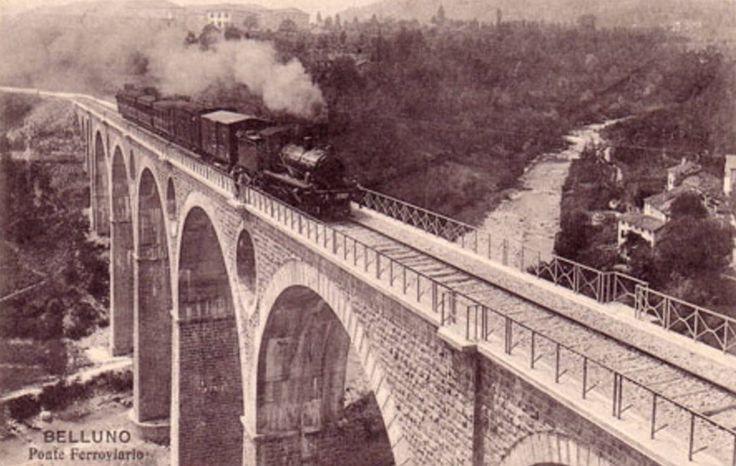 Ponte Ferroviario sul torrente Ardo Belluno Dolomiti Veneto Italia da Belluno e la sua storia pagina FB https://www.facebook.com/groups/350195298472781/?ref=ts&fref=ts
