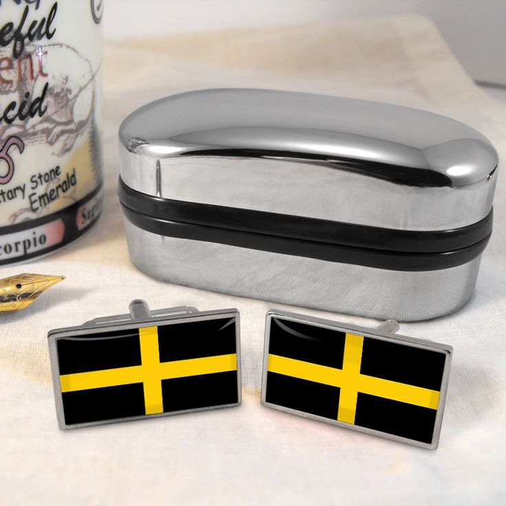St David's Flag Cufflinks & Box #ST