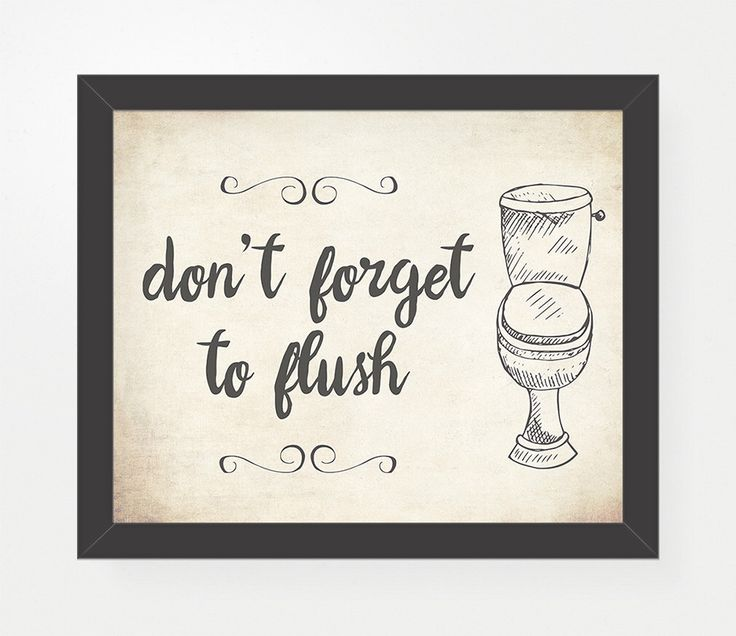 Bathroom Decor Typography Print, Don't Forget To Flush, Bathroom Decor, Bath Home Decor, Kids Bathroom, Rustic Quirky Bathroom Art by PrivyPrints on Etsy https://www.etsy.com/listing/218351145/bathroom-decor-typography-print-dont