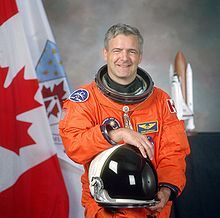 Joseph Jean-Pierre Marc Garneau, C.C., CD, Ph.D., F.C.A.S.I., MP (born February 23, 1949) is a Canadian politician, retired military officer, former astronaut and engineer.   Garneau was the first Canadian in outer space taking part in three flights aboard NASA Space shuttles. He was the president of the Canadian Space Agency from 2001 to 2006, and in 2003 was installed as the ninth Chancellor of Carleton University in Ottawa.