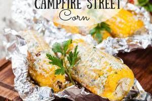 Mexican Street Corn Over A Campfire