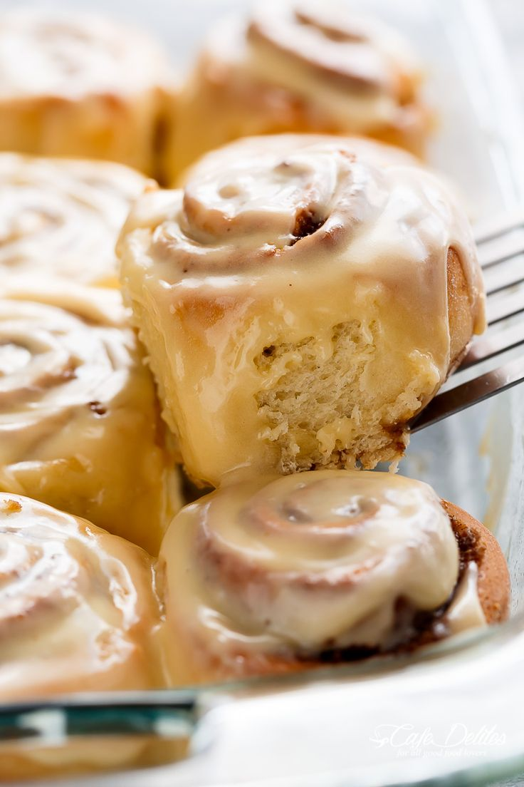 Quick Soft Cinnamon Rolls with a cream cheese glaze are super fluffy and light with a simple homemade dough, and a quick method to get baking!