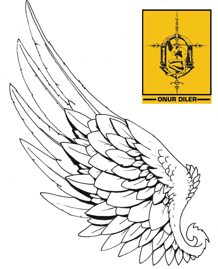 hermes wing for tattoo