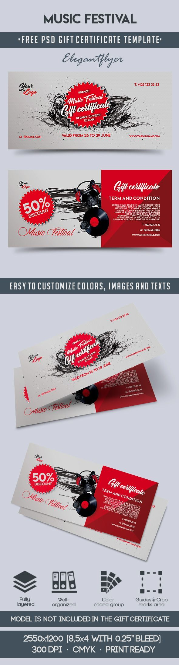 The 66 Best Free Gift Certificate Templates Images On Pinterest