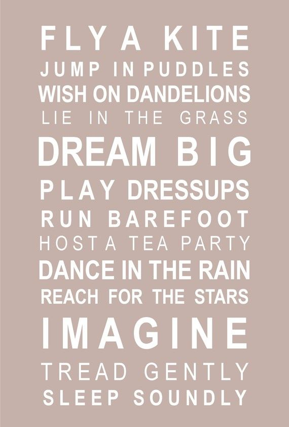 I hope I can look back one day and said I did these. Its not always about the bigger things in live. The small things like little wishes or dancing or imagining help you get through and make life all the more special and fulfilling.