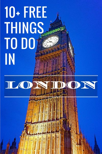 10+ FREE things to do in London. Budget travel.